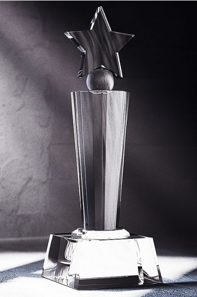 Crystal Start Sphere Statuette or Trophy