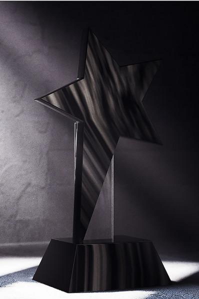 Black Crystal Star Statuette