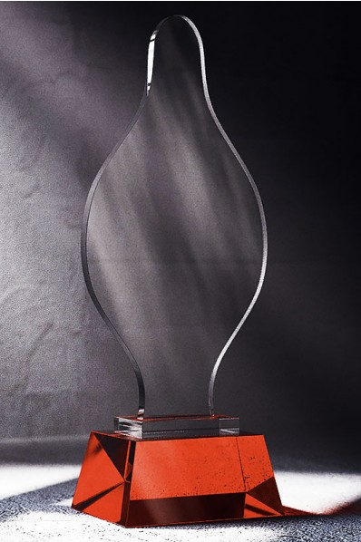 Crystal Statuette with Thin Glass
