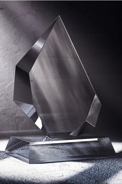 Asymmetrical Crystal Plaque