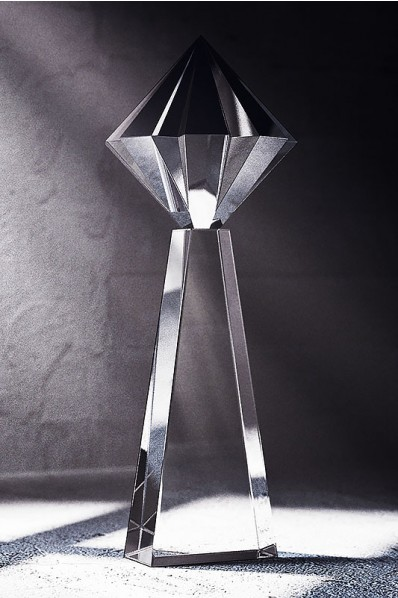 Tall Cut Crystal Statette