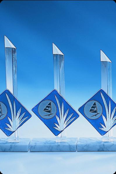 Glass Spire Statuettes