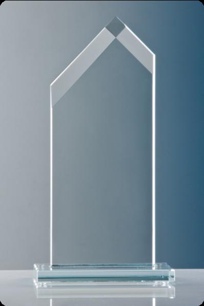 Slanted Sides Glass Plaque