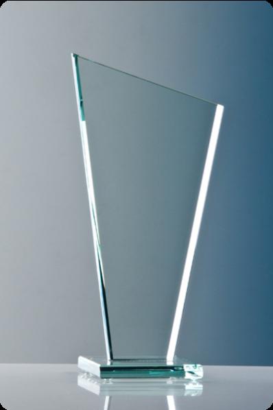Trapezoid Glass Plaque