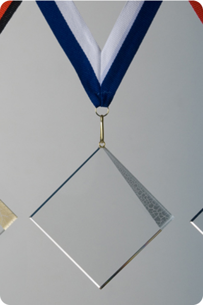Glass Square Medal