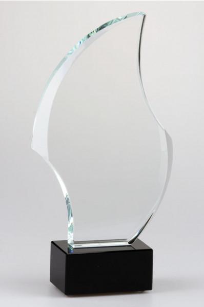 Elliptical Crystal Plaque