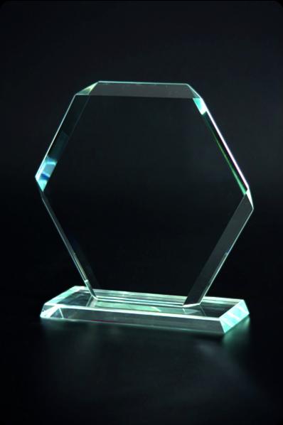 Hexagon Crystal Plaque