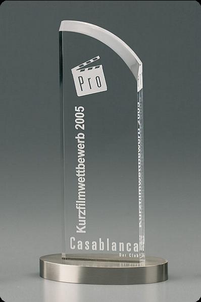 Slender Trophy/Plaque with Metal Base