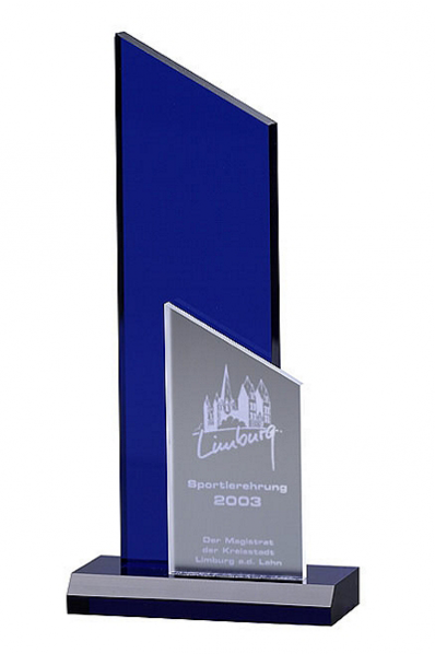 Deep Blue Crystal Plaque