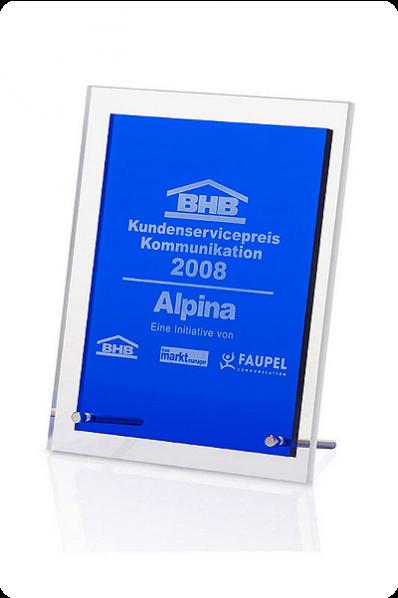 Blue Clear Rectangular Plaque