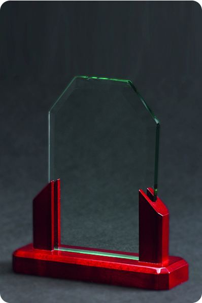 Glass & Wood Plaque