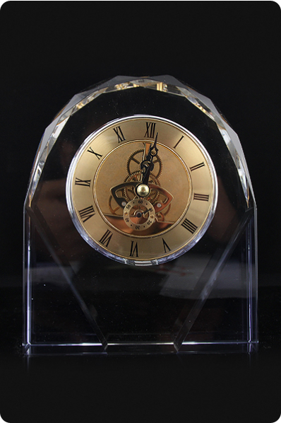 Glass Mechanical Clock