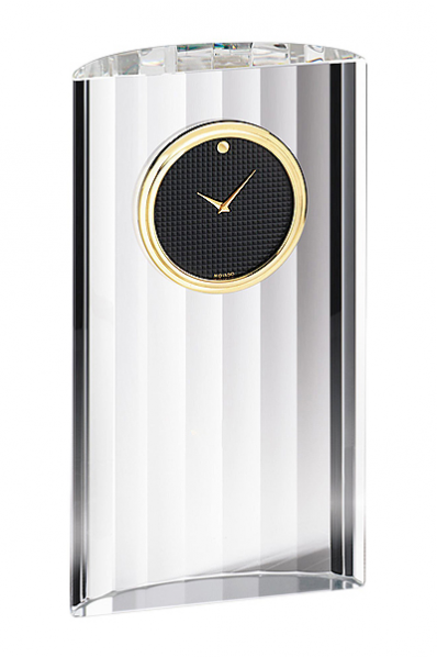 Narrow Crystal Modern Clock