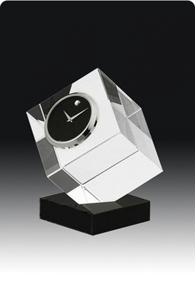 Cut Crystal Cube Clock