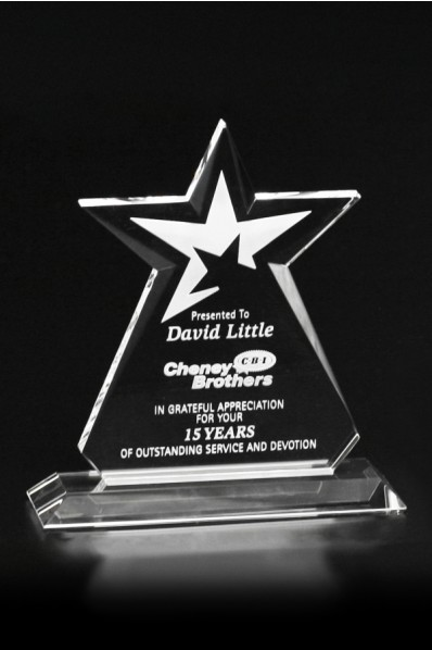 Glass star award