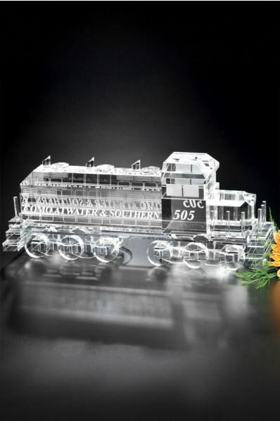 Glass locomotive