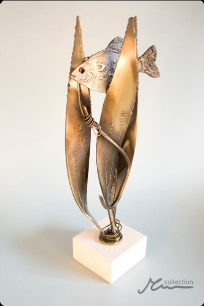 Fish Metal Statuette