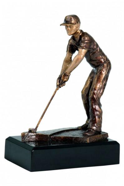 Swinging Golfer Statuette